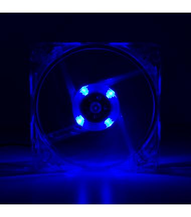 Logilink Fan 120*120*25, acryl,  with 4 LED´s
