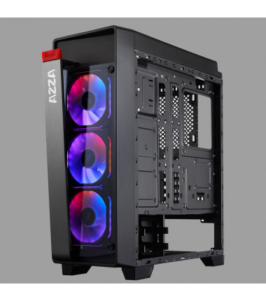 AZZA Obsidian 270 Side window, Black, ATX, Power supply included No, 3 x 120mm RGB Fans