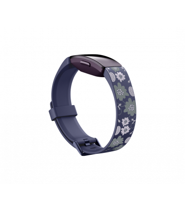 Fitbit Inspire Print Accessory Band, small, bloom