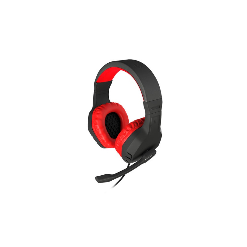 Genesis  Gaming Headset Argon 200, 2 x 3 pin 3,5 mm stereo mini-jack, NSG-0900, Red, Wired, Built-in microphone