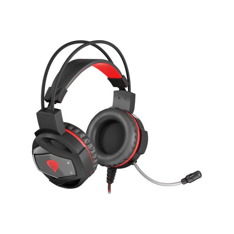 Genesis Gaming Headset  Neon 350, 2 x 3.5 mm stereo mini-jack, USB, NSG-0943, Black, Wired, Built-in microphone