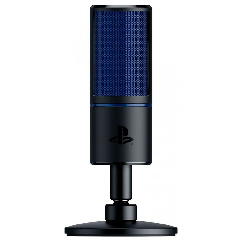 Razer Seiren X Cardioid Condenser Microphone, 3.5 mm, Black, blue, Zero-latency 3.5 mm headphone monitoring port