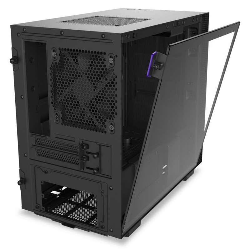 NZXT H210i Side window, Black/Black, Mini ITX, Power supply included No