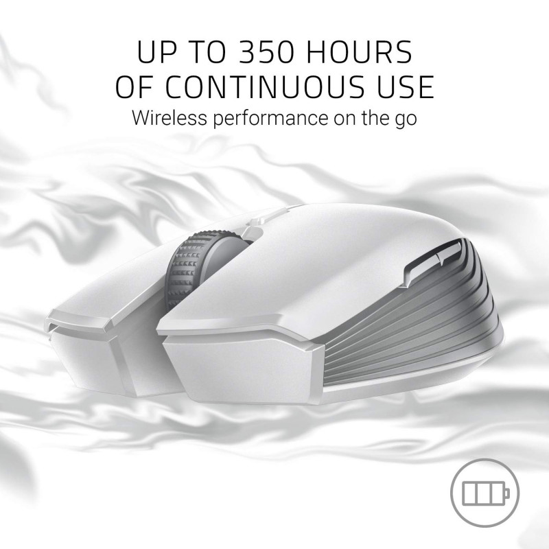 Razer Atheris Gaming Mouse, Mercury White, Wireless connection