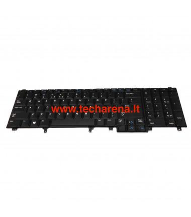 "Dell Latitude E5520 E5520m E5530 E6520 US klaviatūra su apšvietimu ir ""trackpointu"""