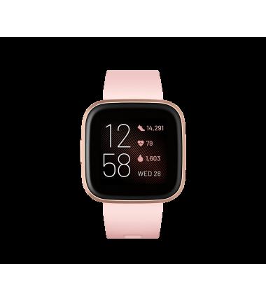 Fitbit Versa 2 (NFC) Smartwatch, Petal/Copper Rose Aluminum