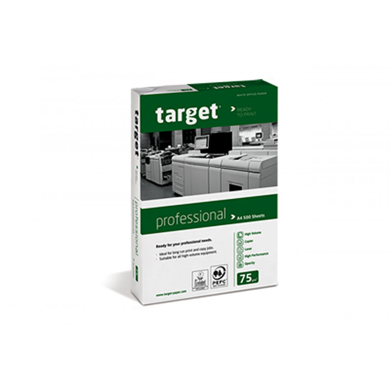 Target Professional B class Copy and Printer paper, White, A4, 75 g/m² Popierius