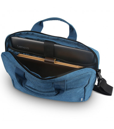 """Lenovo Casual Toploader T210 Fits up to size 15.6 """", Blue, Messenger - Briefcase"""