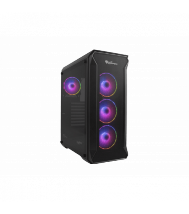 GENESIS IRID 505 ARGB Pc case, Midi tower, 2xUSB 3.0, 2xUSB 2.0, 2x Jack, Black