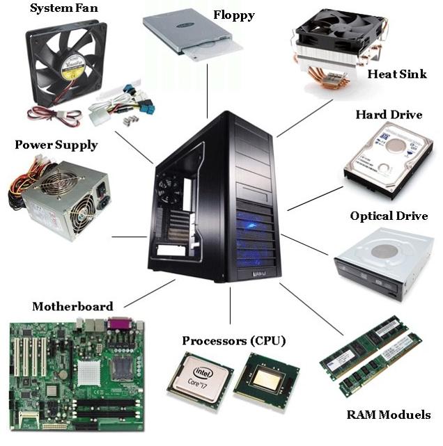 Kompiuterių komponentai ir aušinimas
